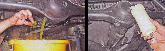 замена масла в редукторе заднего моста ваз 2107