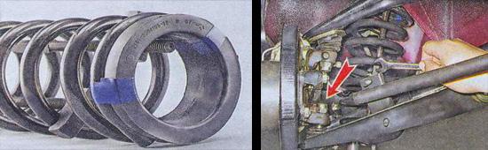 пружина передней подвески ваз 2107 замена, снятие и установка
