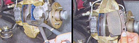 замена передних тормозных колодок на автомобиле ваз 2107