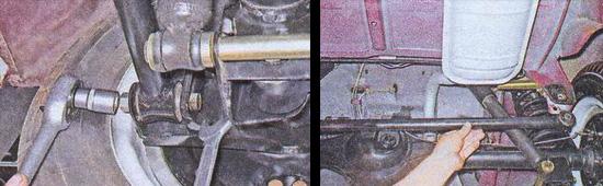 замена поперечной штанги ваз 2107