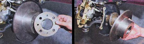 снятие тормозного диска ваз 2107