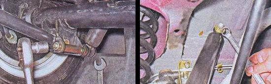 замена задних амортизаторов ваз 2107
