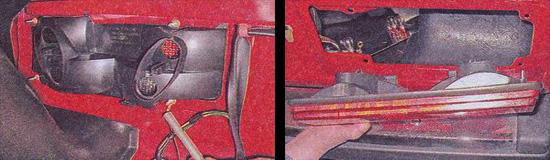 замена задних фонарей ваз 2107