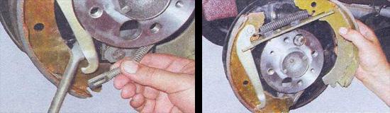 замена задних тормозных колодок ваз 2107