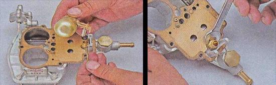 замена поплавка и игольчатого клапана карбюратора ваз 2107