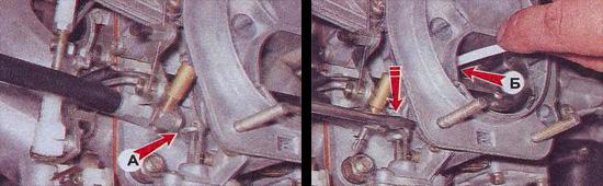 пусковое устройство карбюратора ваз 2107