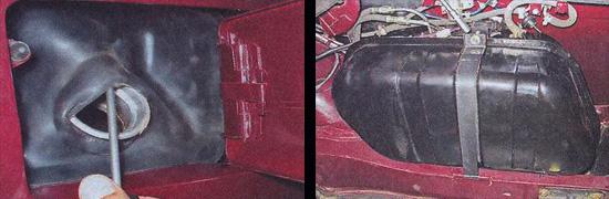 снятие топливного бака ваз 2107