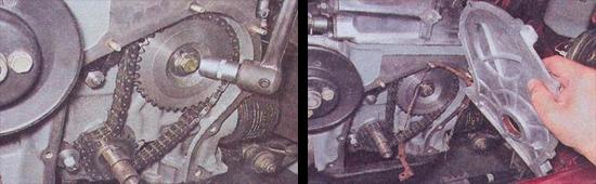 установка цепи привода грм ваз 2107