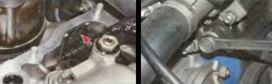 снятие успокоителя цепи привода распределительного вала ваз 2105