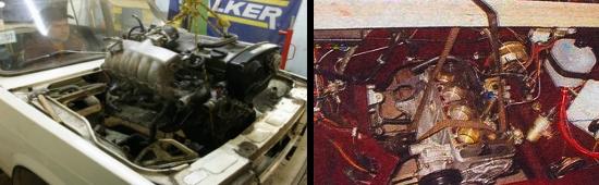 Как снять карбюраторный двигатель ваз 2105