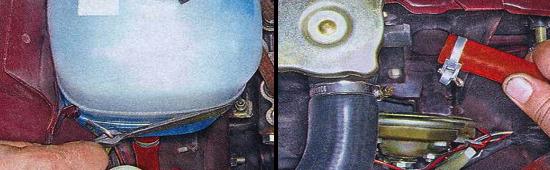 Снятие и замена расширительного бачка на автомобиле ваз 2105