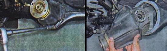 Снятие и замена редуктора заднего моста ваз 2105