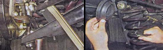 Замена пружин передней подвески Ваз 2105