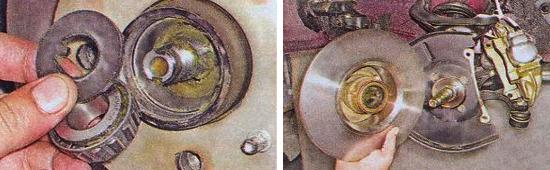 Замена подшипника ступицы переднего колеса ваз 2105