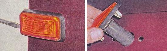 Замена передних боковых повторителей Ваз 2105