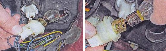Замена ламп передних указателей поворотов Ваз 2105