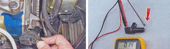 Проверка датчика положения коленчатого вала Ваз 2105