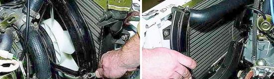 Снятие кожуха вентилятора охлаждения Нива 2121 и 2131