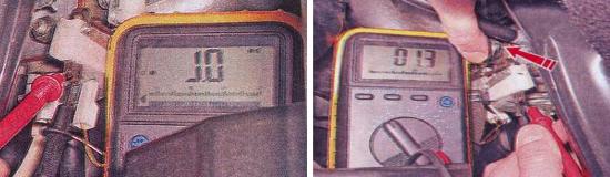 Проверка микропереключателя блока ЭПХХ Ваз 2105