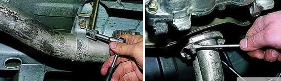 Как снять приемную трубу глушителя Нива 2121 и 2131