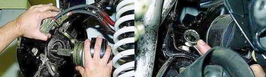 Снятие приводов передних колес Нива 2121 и 2131
