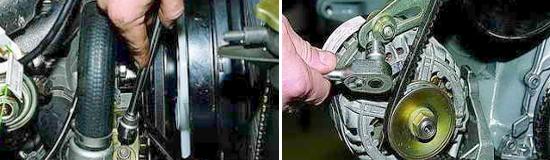 Замена ремня привода насоса охлаждающей жидкости Ваз 2131