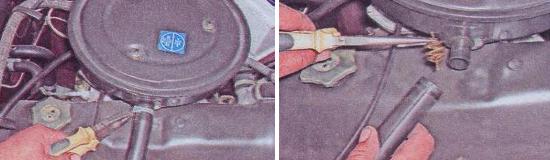 Как снять корпус воздушного фильтра Ваз 2105