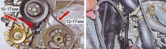 Замена и регулировка натяжения ремня генератора Ваз 2105