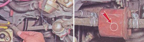 Установка и замена топливного фильтра Ваз 2105
