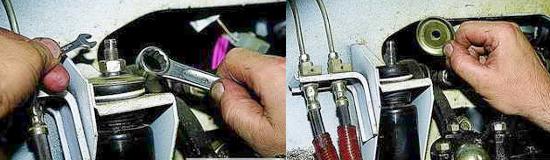 Как снять передние амортизаторы Нива 2121 и 2131