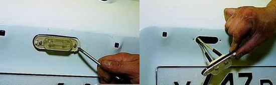 Как снять плафоны освещения номерного знака Нива 2121 2131