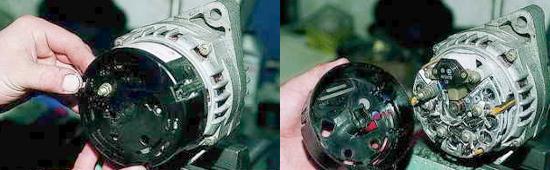 Разборка генератора инжекторного двигателя Ваз 2121 Нива 2131