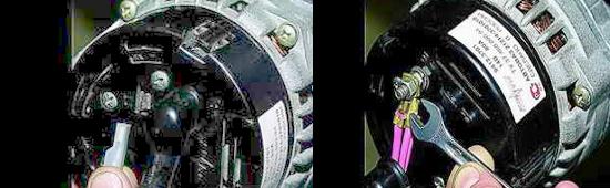 Как снять генератор инжекторного двигателя Ваз 2121 Нива 2131