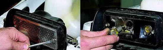 Замена ламп передних фонарей Ваз 2121 Нива 2131