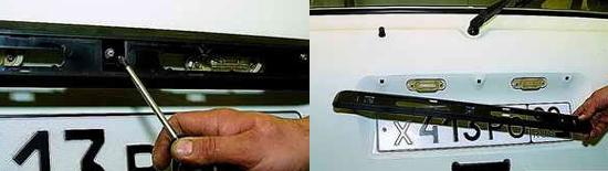 Снятие накладки двери задка Ваз 2121 Нива 2131