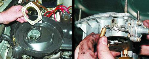 снятие крышки карбюратора с автомобиля ваз 2106