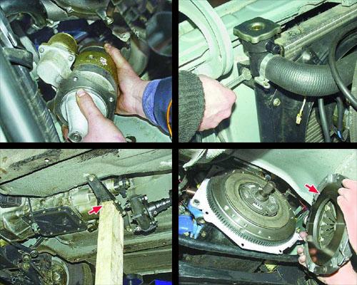 снятие двигателя с автомобиля