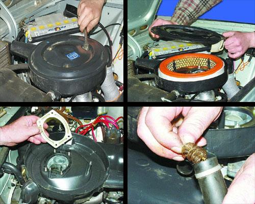 снятие и установка воздушного фильтра автомобиля ваз 2106