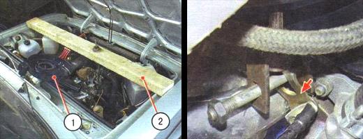 снятие и установка поперечины передней подвески ваз 2106