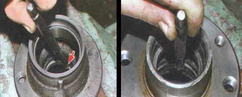 замена подшипника ступицы переднего колеса ваз 2106