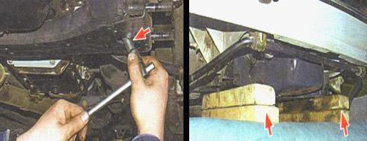 меняем поперечину передней подвески
