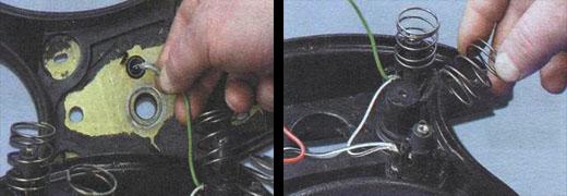 Замена выключателя звукового сигнала рулевого колеса