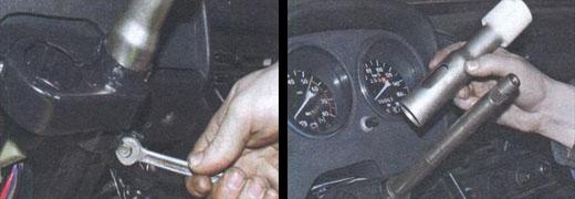 снятие и установка рулевого вала на автомобиль