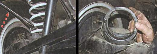замена пружины задней подвески ваз 2106
