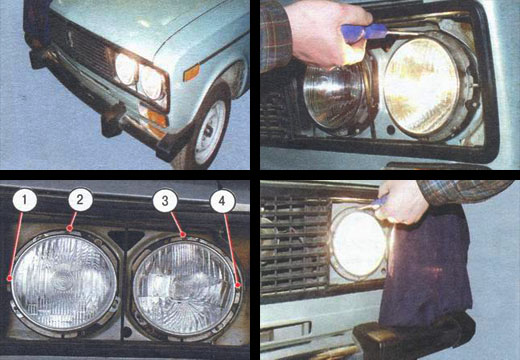 регулировка света фар на автомобиле ваз 2106