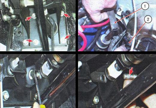 снятие и установка вакуумного усилителя ваз 2106