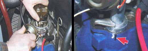 установка момента зажигания автомобиль ваз 2106