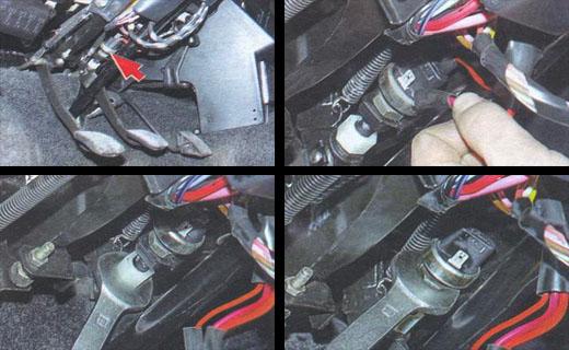 замена выключателя стоп сигнала на автомобиле ваз 2106