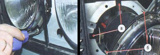 замена фар на автомобиле ваз 2106
