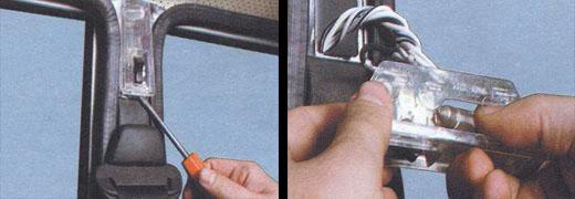 замена лампы плафона освещения салоно ваз 2106
